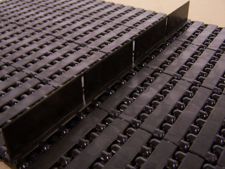 Modular Plastic Flighted Conveyor Belt