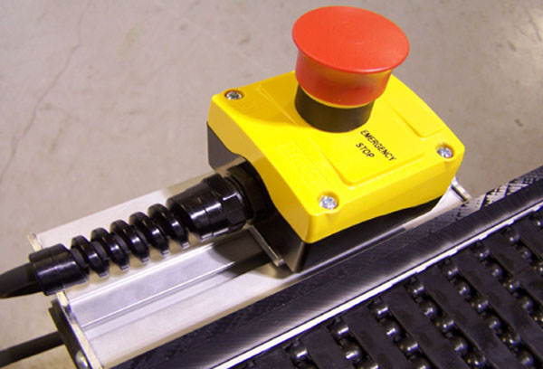 Plastic Belt Conveyor E-Stop