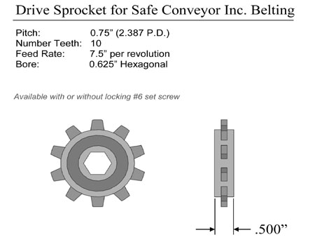 Plastic Belt Conveyor Sprocket